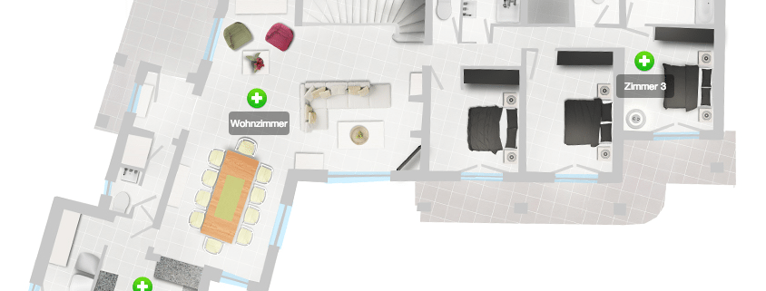 interaktiver Gebäudeplan Webdesign